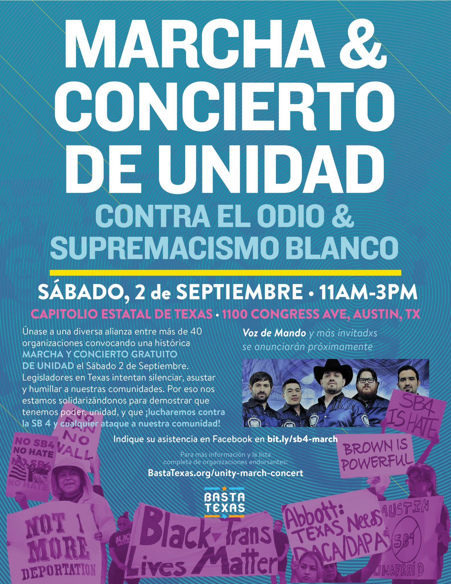 unity march concert small flyer basta texas